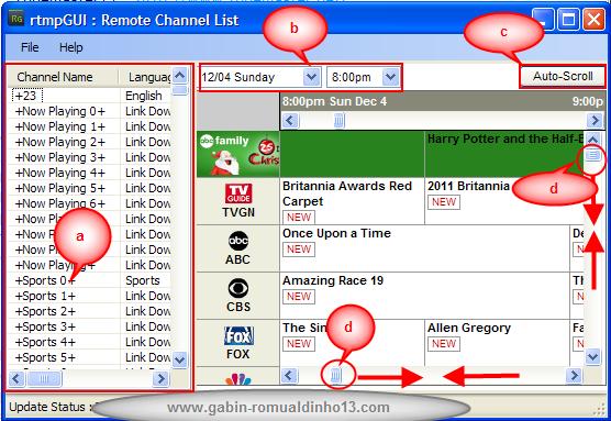rtmpgui channel list