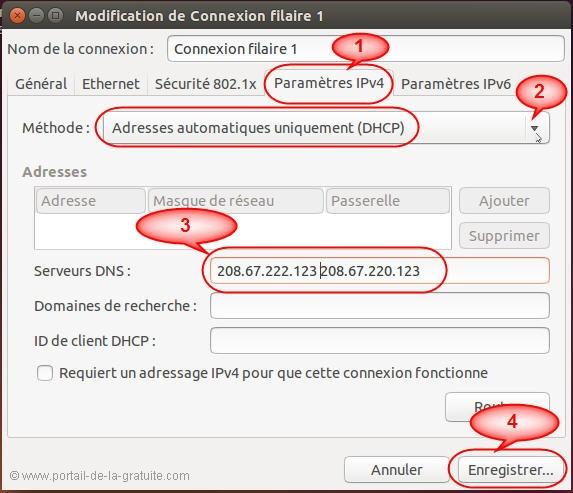 changer le DNS sous ubuntu linux